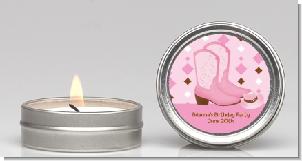 Cowgirl Western - Baby Shower Candle Favors