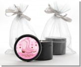 Cowgirl Western - Birthday Party Black Candle Tin Favors