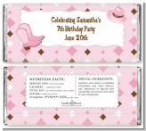Cowgirl Western - Personalized Birthday Party Candy Bar Wrappers