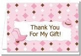 Cowgirl Western - Baby Shower Thank You Cards