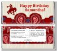 Cowgirl Rider - Personalized Birthday Party Candy Bar Wrappers thumbnail