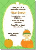 Pumpkin Baby Asian - Baby Shower Invitations