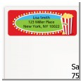 Circus Popcorn - Birthday Party Return Address Labels thumbnail