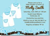 Twin Little Boy Outfits - Baby Shower Invitations