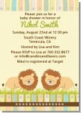 Twin Lions - Baby Shower Invitations