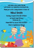 Under the Sea Asian Baby Girl Twins Snorkeling - Baby Shower Invitations