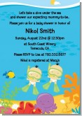 Under the Sea Asian Baby Twins Snorkeling - Baby Shower Invitations