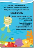 Under the Sea Asian Baby Snorkeling - Baby Shower Invitations