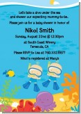 Under the Sea Baby Twin Boys Snorkeling - Baby Shower Invitations