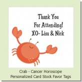 Crab | Cancer Horoscope - Personalized Baby Shower Card Stock Favor Tags