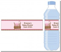 Crib Pink - Personalized Baby Shower Water Bottle Labels
