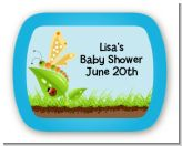 Critters Bugs & Insects - Personalized Baby Shower Rounded Corner Stickers