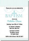 Cross Blue Necklace - Baptism / Christening Invitations
