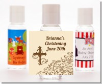 Cross Brown & Beige - Personalized Baptism / Christening Hand Sanitizers Favors