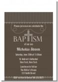 Cross Brown Necklace - Baptism / Christening Petite Invitations