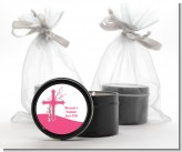 Cross Cherry Blossom - Baptism / Christening Black Candle Tin Favors
