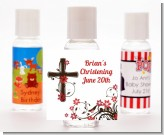 Cross Floral Blossom - Personalized Baptism / Christening Hand Sanitizers Favors