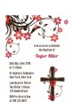 Cross Floral Blossom - Baptism / Christening Petite Invitations thumbnail