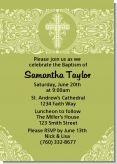 Cross Sage Green - Baptism / Christening Invitations