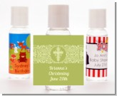Cross Sage Green - Personalized Baptism / Christening Hand Sanitizers Favors