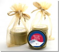 Cruise Ship - Bridal Shower Gold Tin Candle Favors