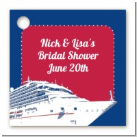 Cruise Ship - Personalized Bridal Shower Card Stock Favor Tags