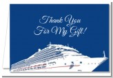 Cruise Ship - Bridal Shower Thank You Cards