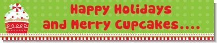 Christmas Cupcake - Personalized Christmas Banners
