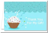 Cupcake Boy - Birthday Party Thank You Cards