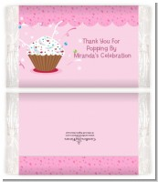 Cupcake Girl - Personalized Popcorn Wrapper Birthday Party Favors