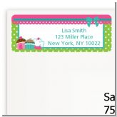 Cupcake Trio - Birthday Party Return Address Labels