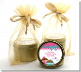 Cupcake Trio - Birthday Party Gold Tin Candle Favors