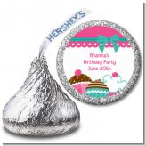Cupcake Trio - Hershey Kiss Birthday Party Sticker Labels