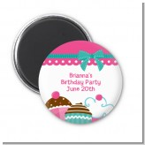 Cupcake Trio - Personalized Birthday Party Magnet Favors