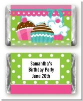 Cupcake Trio - Personalized Birthday Party Mini Candy Bar Wrappers