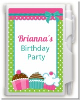 Cupcake Trio - Birthday Party Personalized Notebook Favor