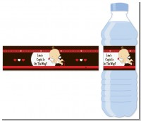 Cupid Baby Valentine's Day - Personalized Baby Shower Water Bottle Labels