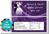Custom Wedding Couple - Personalized Bridal Shower Candy Bar Wrappers