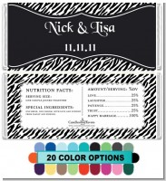 Custom Zebra - Personalized Bridal Shower Candy Bar Wrappers