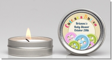 Cute as a Button - Baby Shower Candle Favors