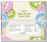 Cute As a Button - Personalized Baby Shower Candy Bar Wrappers