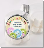 Cute As a Button - Personalized Baby Shower Candy Jar