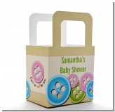 Cute As a Button - Personalized Baby Shower Favor Boxes