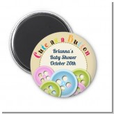 Cute As a Button - Personalized Baby Shower Magnet Favors