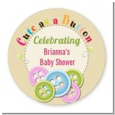 Cute As a Button - Personalized Baby Shower Table Confetti