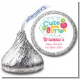 Cute As Buttons - Hershey Kiss Baby Shower Sticker Labels thumbnail