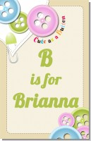 Cute As a Button - Personalized Baby Shower Nursery Wall Art