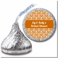 Damask Pattern - Hershey Kiss Bridal Shower Sticker Labels