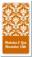 Damask Pattern - Custom Rectangle Bridal Shower Sticker/Labels