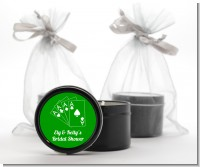 Deck of Cards - Bridal Shower Black Candle Tin Favors